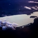 Ioannina Lake (aeroplane view). Credit: Nikos Skoulikidis
