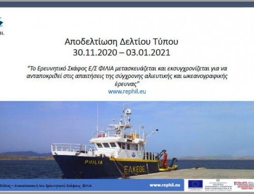 The Research Vessel R/V PHILIA is being transformed and modernized