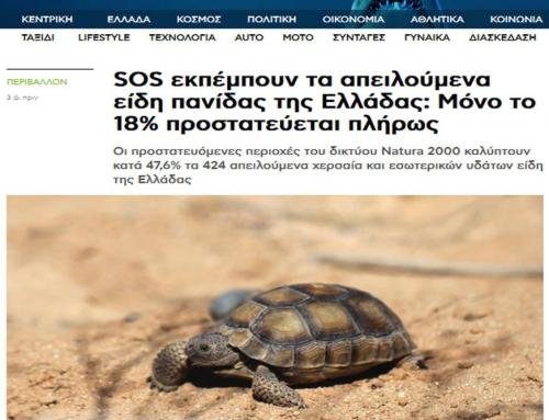 Τhe endangered fauna species in Greece emit SOS (newsbeast.gr- 15.02.2021)