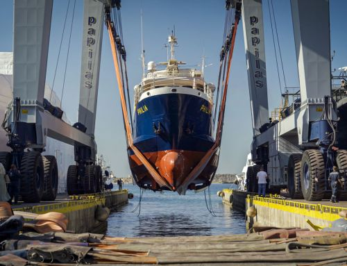 Launching of R/V PHILIA at sea by ANATECO S.A. (28.05.2021)